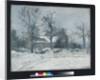 Piette's House at Montfoucault, Snow Effect, 1874 by Camille Pissarro