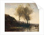 Cowherd Resting at the Foot of Cool Hills, c.1855-65 by Jean Baptiste Camille Corot