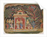 Krishna carried off by the Whirlwind Demon by Indian School