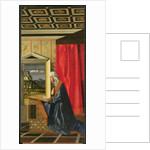 Virgin Mary, from The Annunciation diptych by Giovanni (and assistants) Bellini