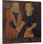John and Joan Cooke, c.1605 by English School