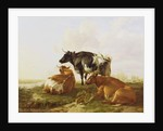 Cattle in a River Landscape by Thomas Sidney Cooper
