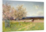 Springtime Ploughing, c.1900 by Alfred East