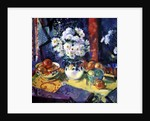 Flowers and Fruit in a Green Bowl, 1997 by Peter Graham