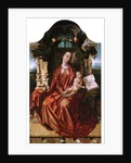"""Loire Atlantique N* 133 - Nantes - Musee Dobree - """"The Virgin and Child"""" - Painting of Flanders of the 15th century by Anonymous"""