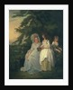 Mary Margaret Wood and two of her daughters, 1787 by Francis Wheatley