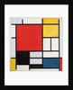 Composition with large red plane, yellow, black, gray and blue, 1921 by Piet Mondrian