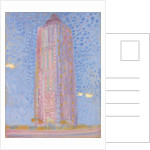 Lighthouse at Westkapelle in Pink, 1909 by Piet Mondrian