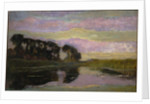 Riverscape with a Row of Trees at Left by Piet Mondrian