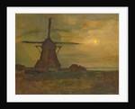 Oostzijdse Mill in Moonlight, c.1907 by Piet Mondrian