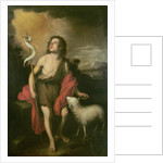 St. John with a Lamb by Bartolome Esteban Murillo