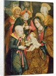 The Holy Family and the Three Magi by School German