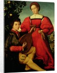 Venetian Lady and Lute Player by Italian School