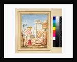 Man reclining, lady and youth by Pietro Santi Bartoli