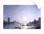 Westminster in Moonlight, c.1850 by Henry Pether