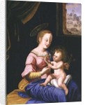 Virgin and Child with the Flight into Egypt by Flemish School