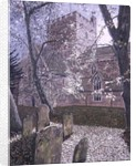 Brecon Cathedral, Autumn Day, 1992 by Huw S. Parsons