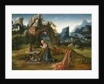 St. Jerome Praying in a Landscape, 1525-50 by Joachim Patenier or Patinir