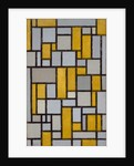 Composition with Grid 1, 1918 by Piet Mondrian