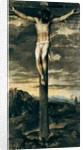 Cruxified Christ. Inscription INRI on the cross, 1555 by Titian