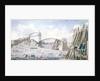 The floating of the last span of the Royal Albert Bridge, Saltash by English School