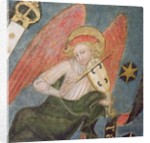 Angel musician playing a viol by French School