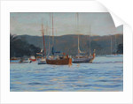 Evening yachts Salcombe, 2016 by Jennifer Wright