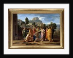 The blind of Jericho or the Christ waging the blind by Nicolas Poussin