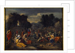 The Israelites collecting manna in the desert by Nicolas Poussin