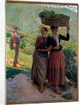 Life in the countryside, Scene of seduction in the vineyards of Tuscany by Ruggero Focardi