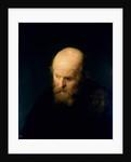 Head of a Bald, Old Man, 1632 by (studio of) Rembrandt Harmensz. van Rijn
