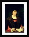 Portrait of a Man with a letter, 1515-20 by Jacob Cornelisz van (circle of) Oostsanen