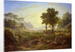 Italian Landscape at Sunset by Johann Martin von Rohden