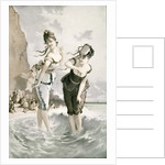 Two young ladies sea bathing in the 19th century by Anonymous