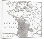 Map showing the English dominions in France at the time of the Treaty of Brétigny by Anonymous