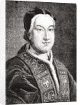 Portrait of Pius VI (Giovanni Angelo Braschi) Pope from 1775 by French School
