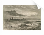 Transport on the Rhine in the 1860s by French School