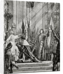 St. Joan of Arc at the Coronation of Charles VII (reg.1422-61) in 1429 by French School
