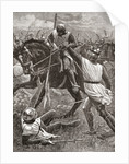 King Henry III in danger during the Battle of Evesham in 1265, part of The Second Baron's War in 1265 by Anonymous