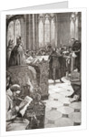 John Wycliffe on trial for heresy in St. Paul's Cathedral by Anonymous