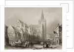 Exterior of St. Patrick's Cathedral, Dublin by William Henry Bartlett
