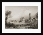 Augustinian Abbey at Adare, County Limerick, Ireland by William Henry Bartlett