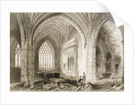 Interior of Holycross Abbey, County Tipperary, Ireland by William Henry Bartlett