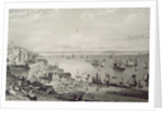 View of Cobh Harbour, looking towards Rostellan, County Cork, Ireland in the 1830s by William Henry Bartlett