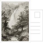 The Waterfall, Powerscourt, County Wicklow, Ireland by William Henry Bartlett