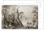 Innisfallen, Killarney Lake, County Killarney by William Henry Bartlett
