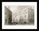 Street Scene in Galway, County Galway by William Henry Bartlett