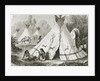 Comanche Indian Camp in the 1850s by French School