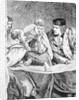 Christopher Columbus describes his voyage to the Americas to King Ferdinand II and Queen Isabella by English School