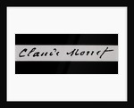 Signature of Claude Monet by Claude Monet